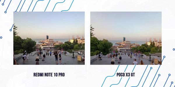 сравнение фото note 10 pro и Poco X3 GT