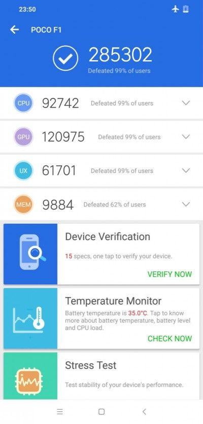 Xiaomi Pocophone F1 прогнали через бенчмарк AnTuTu – фото 2