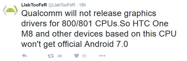 Android 7.0 Nougat не появится в Samsung Galaxy Note 3 и S5, LG G3 и Sony Xperia Z3 по вине Qualcomm – фото 2