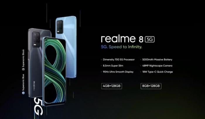 Представили Realme 8 5G с 90-Гц дисплеем и Dimensity 700 – фото 2