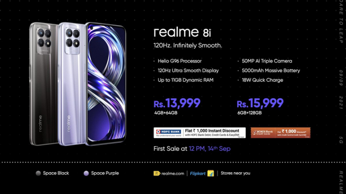 Announcement of Realme 8s and Realme 8i: the first smartphones with new MediaTek chips - photo 2