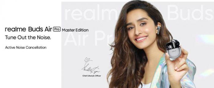 Постер наушников Realme Buds Air Pro Master Edition
