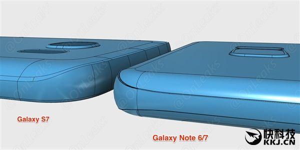 Камера в Samsung Galaxy Note 6/7 будет выступать над корпусом меньше, чем в Galaxy S7 и Galaxy Note 5 – фото 1