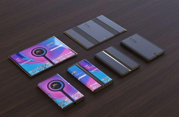 рендер гибкого смартфона от Xiaomi