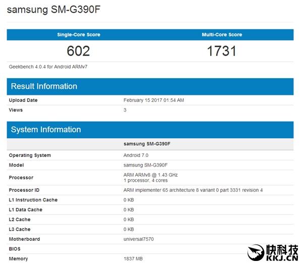 Samsung Galaxy Xcover 4 с процессором Exynos 7570 протестирован в бенчмарках – фото 2
