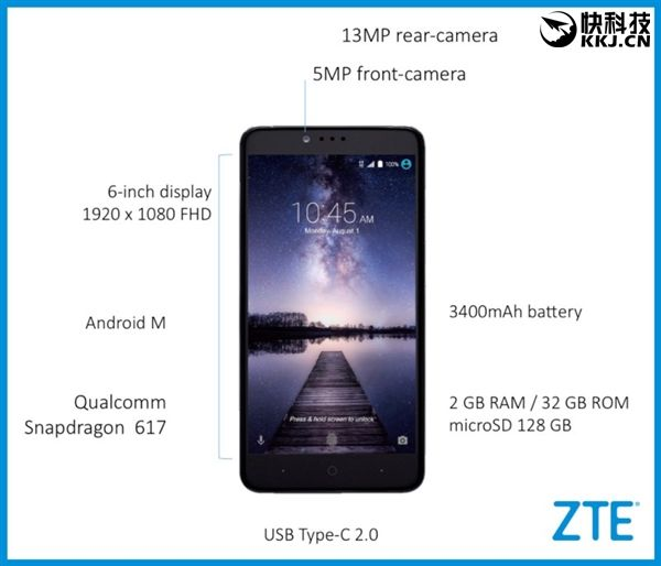 Фаблет ZTE ZMax Pro с 6-дюймовым дисплеем, процессором Snapdragon 617 и системой Android 6.0 будет стоить всего около $100 – фото 2
