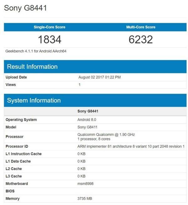 Sony Xperia XZ1 Compact: компактный флагман с Snapdragon 835 и Android 8.0 засветился в бенчмарке – фото 2