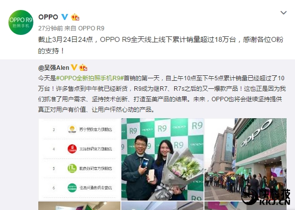 Oppo R9 побил рекорд в первый день продаж и претендует на звание самого кассового смартфона компании – фото 3