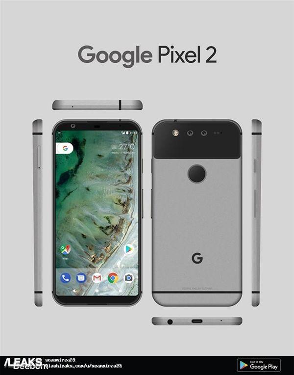 Google Pixel 2 показал себя на рендере – фото 2