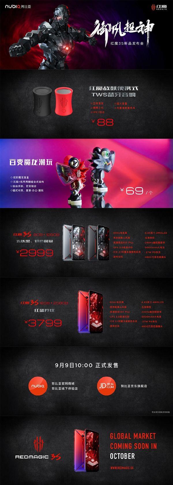 Анонс Nubia Red Magic 3S: серийный суперкар для геймеров – фото 1