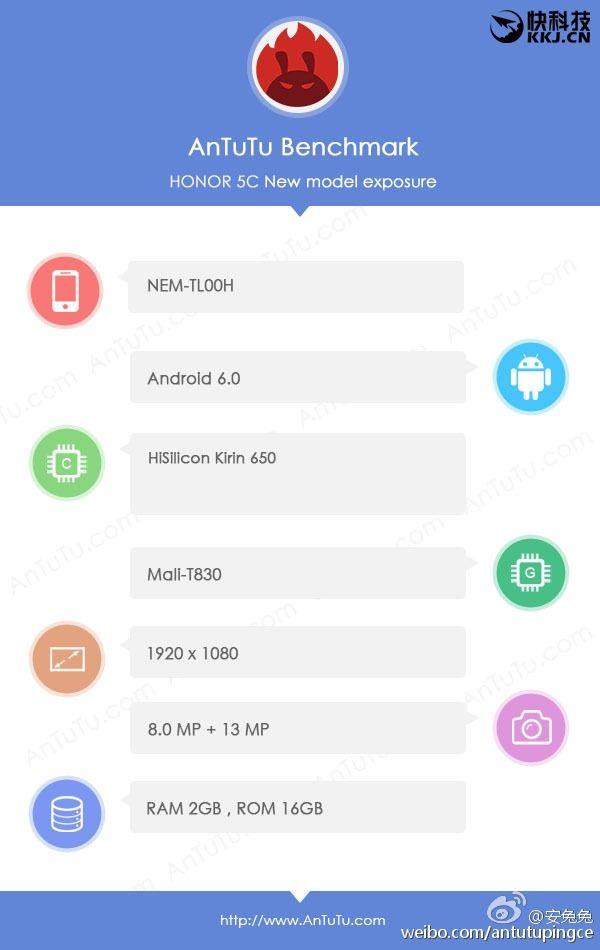 Honor 5C с Kirin 650 значительно уступил в тесте AnTuTu конкурентам с Helio X10 – фото 1