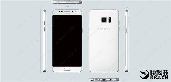 Рендеры Samsung Galaxy Note 7 опубликованы в сети: USB Type-C (впервые), датчики распознавания радужной оболочки глаза и раздельное расположение кнопок – фото 1
