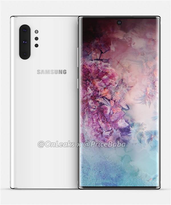 рендер Samsung Galaxy Note 10