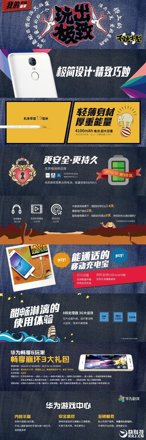Huawei Enjoy 6 - гибрид Meizu M3s и Xiaomi Redmi 3S с заоблачным ценником – фото 2