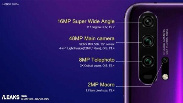 Рассекретили характеристики камер Honor 20 и Honor 20 Pro: четыре датчика, отдельный модуль для макросъемки и светосила f/1.4 – фото 3