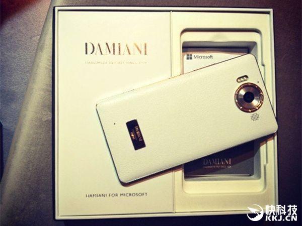 Lumia 950 Diamond Edition с отделкой из кожи, золота и алмазов оценили в 1950 евро – фото 1