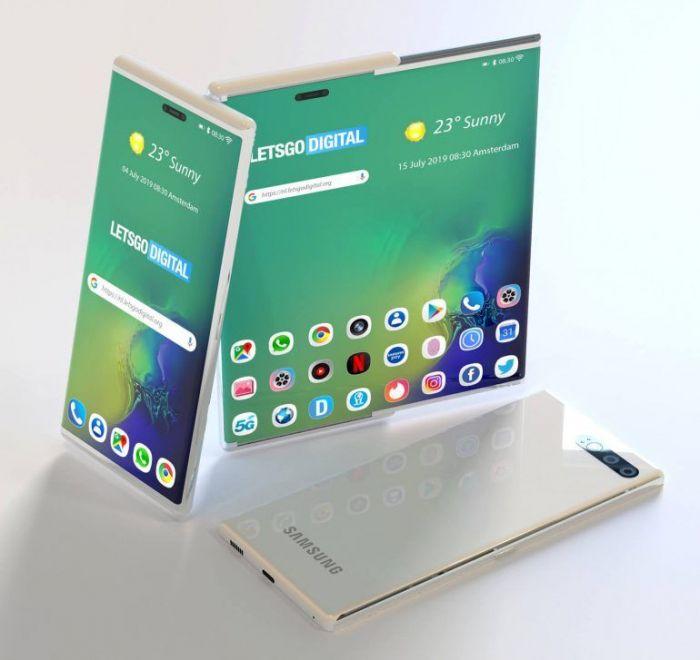Концепт раздвижного смартфона: возможный дизайн Samsung Galaxy S11 – фото 4
