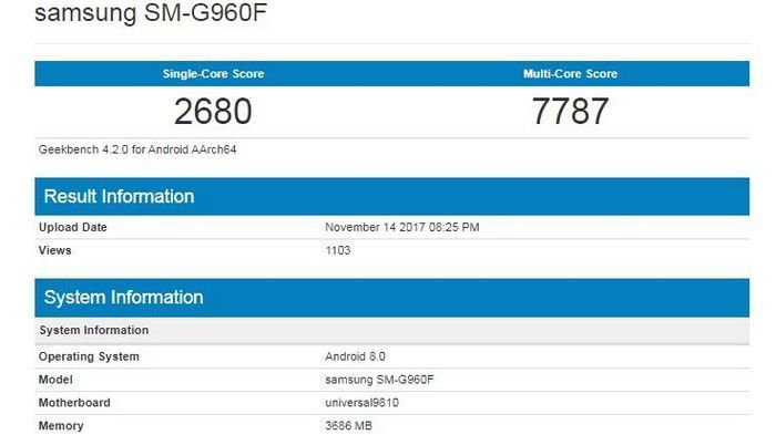 Samsung Galaxy S9 показался в бенчмарке Geekbench – фото 2
