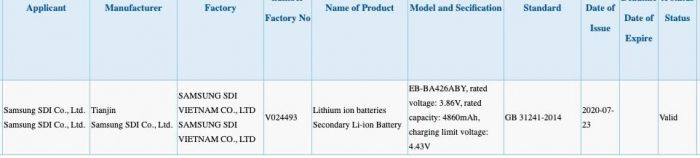 Емкость аккумулятора Samsung Galaxy A42 и цена наушников Samsung Galaxy Buds Live – фото 1