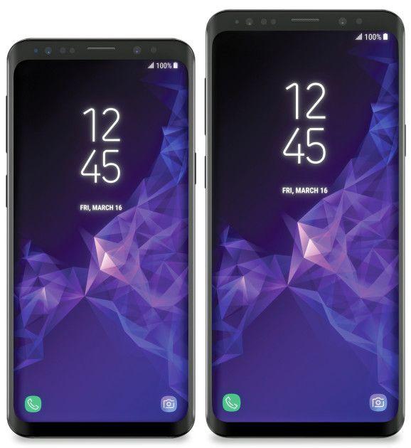 Пресс-рендер Samsung Galaxy S9 и Galaxy S9+ от Эвана Бласса – фото 1