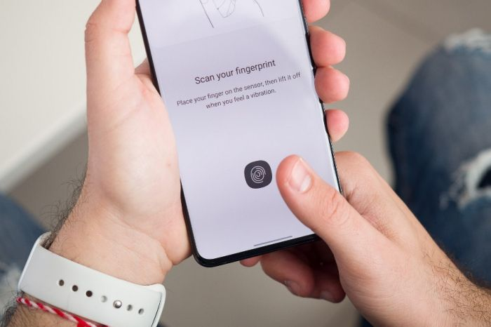 Samsung Galaxy S21 сканер