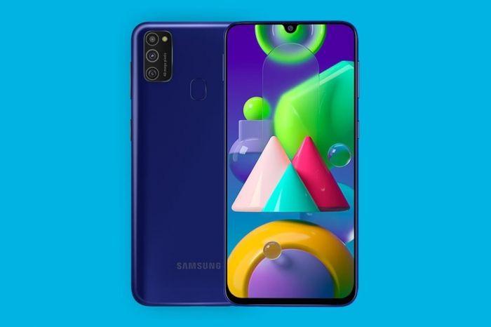 Galaxy M21 в синем цвете