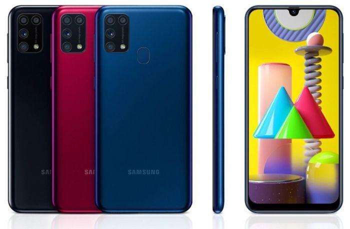 Galaxy M31 в разных цветах