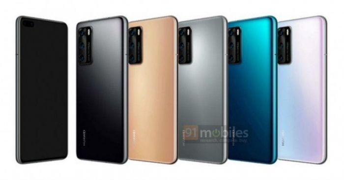 Визуализация Huawei P40 и Huawei P40 Pro во всех цветах – фото 1