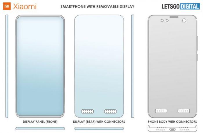 Xiaomi продолжает патентовать необычные смартфоны. На этот раз съемный дисплей – фото 1