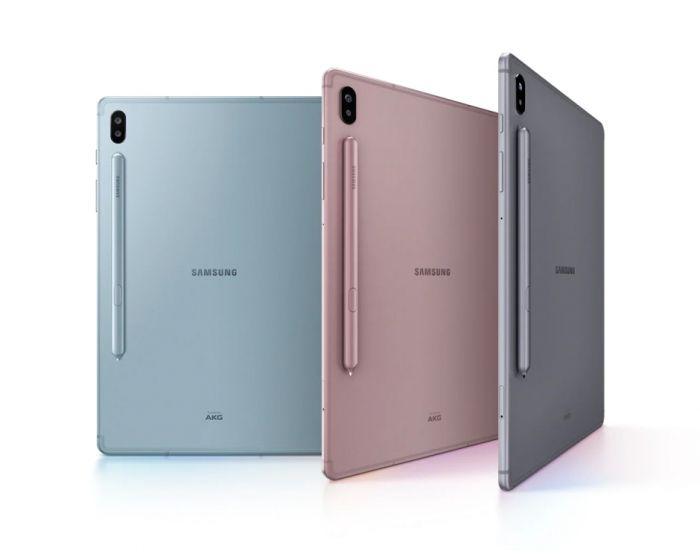 Galaxy Tab S6 в разных цветах