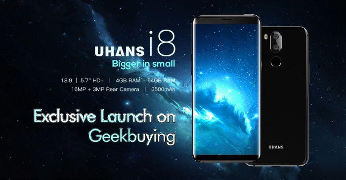 Безрамочный UHANS I8 с функцией распознавания лица за $129,99 на Geekbuying – фото 1