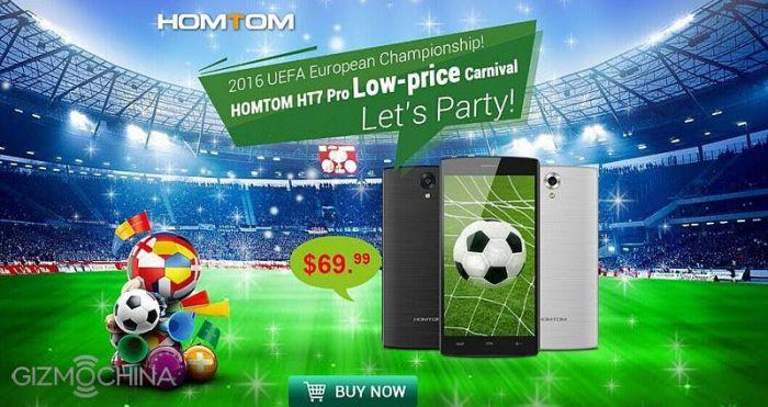 HomTom HT7 Pro с процессором МТ6735 и объемами памяти 2+16 Гб всего за $69,99 в магазине TomTop.com – фото 2