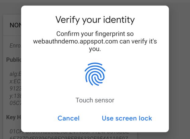 Google Chrome 70 поддерживает авторизацию по сканеру отпечатков пальцев – фото 2