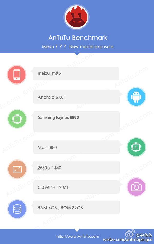 Флагманский смартфон Meizu с процессором Exynos 8890 показался в AnTuTu – фото 2