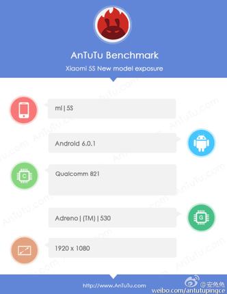 Xiaomi Mi 5S с процессором Snapdragon 821 засветился в AnTuTu – фото 2
