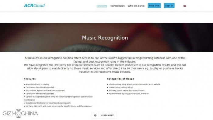 Xiaomi Mi5 получит приложение для распознавания музыки от ACRCloud – фото 1