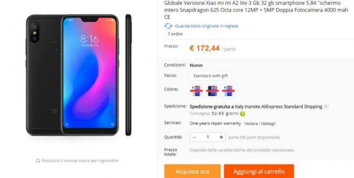 Цена на Xiaomi Mi A2 Lite от AliExpress – фото 1