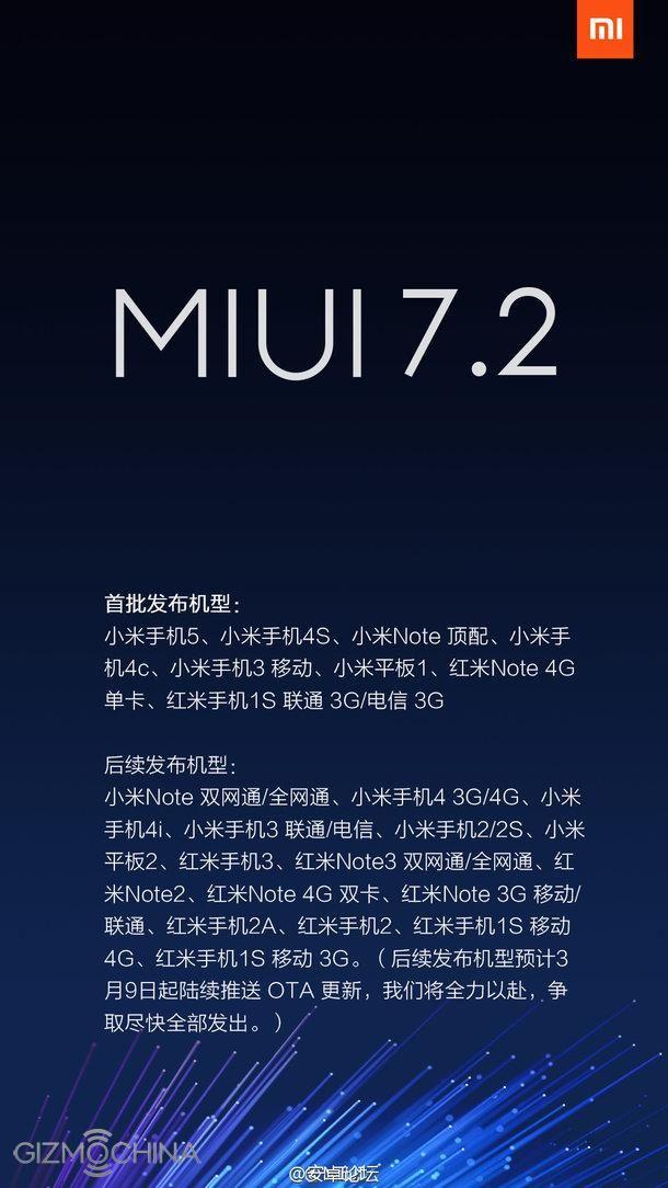 Xiaomi объявил о приходе MIUI 7.2 еще на 14 моделей устройств – фото 1