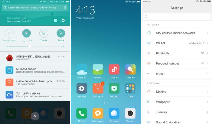 Интерфейс Xiaomi MIUI