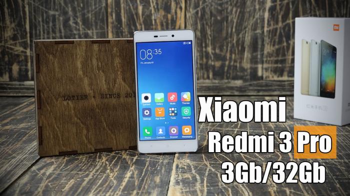 Распаковка смартфона Xiaomi Redmi 3 Pro (Prime) – фото 1