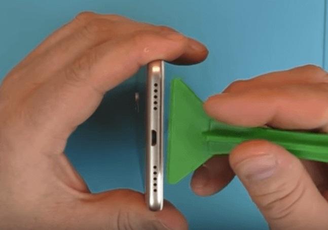 снятие крышки Xiaomi