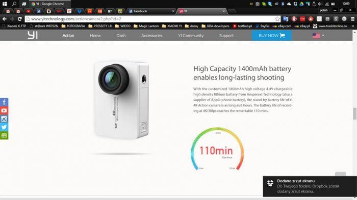 Xiaomi Yi 4K Action Camera 2: подробности о характеристиках и возможностях новинки – фото 3