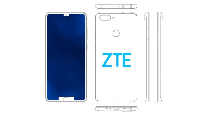 В привычку ZTE входит впечатлять дизайном. Вот вам смартфон с двумя выемками – фото 1