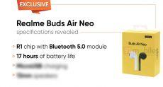 Realme Buds Air Neo: бюджетные TWS наушники с автономностью до 17 часов