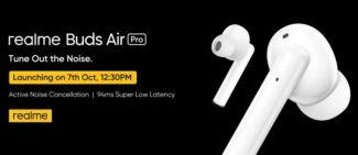 Новые наушники Realme Buds Wireless Pro и Buds Air Pro будут представлены 7 октября