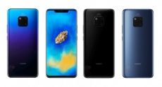 Huawei Mate 20 Pro в трех цветах на официальных пресс-изображениях