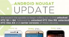 HTC 10, One M9 и One A9 обновятся до Android 7.0 Nougat в 4-м квартале 2016
