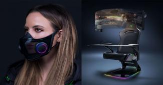 CES 2021: концепт игрового кресла и умной маски от Razer