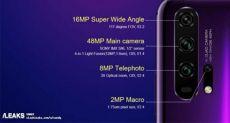 Рассекретили характеристики камер Honor 20 и Honor 20 Pro: четыре датчика, отдельный модуль для макросъемки и светосила f/1.4