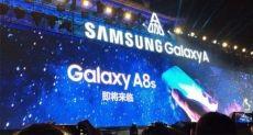Infinity-U дисплей Samsung Galaxy A8s на снимках